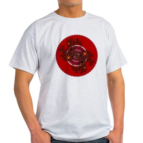 Fractal Kaleidoscope Red Light T-Shirt