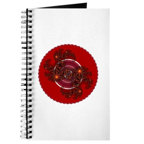 Fractal Kaleidoscope Red Journal