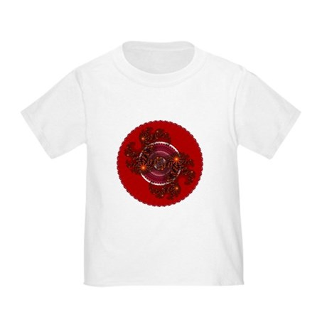 Fractal Kaleidoscope Red Toddler T-Shirt