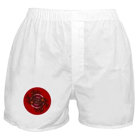 Fractal Kaleidoscope Red Boxer Shorts
