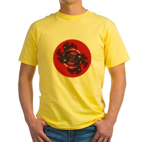 Fractal Kaleidoscope Red 2 Yellow T-Shirt