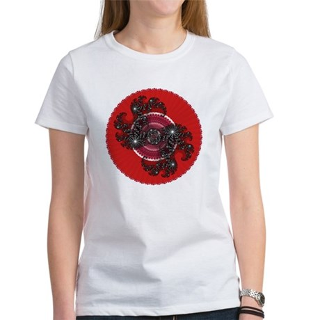 Fractal Kaleidoscope Red 2 Women's T-Shirt