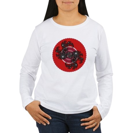 Fractal Kaleidoscope Red 2 Women's Long Sleeve T-S