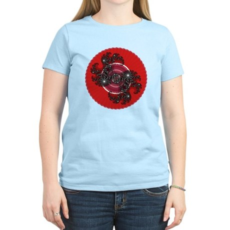 Fractal Kaleidoscope Red 2 Women's Light T-Shirt