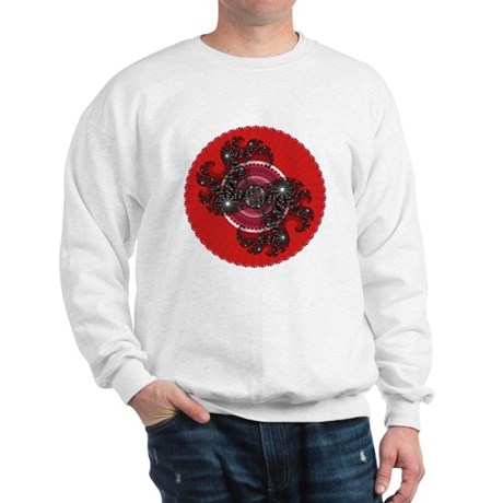 Fractal Kaleidoscope Red 2 Sweatshirt