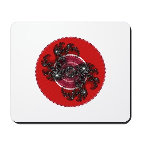 Fractal Kaleidoscope Red 2 Mousepad