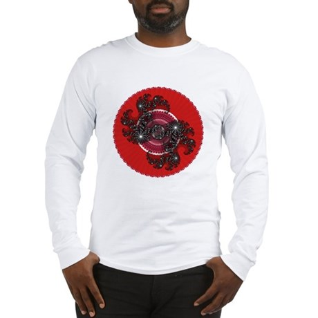 Fractal Kaleidoscope Red 2 Long Sleeve T-Shirt