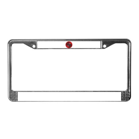 Fractal Kaleidoscope Red 2 License Plate Frame