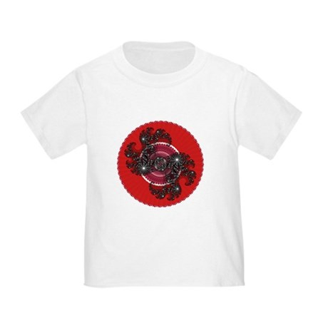 Fractal Kaleidoscope Red 2 Toddler T-Shirt