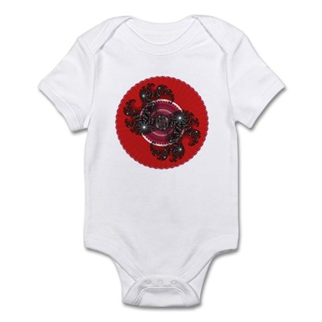 Fractal Kaleidoscope Red 2 Infant Bodysuit
