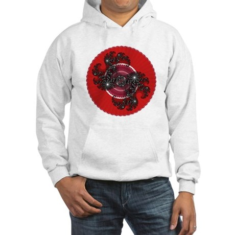 Fractal Kaleidoscope Red 2 Hooded Sweatshirt