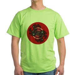 Fractal Kaleidoscope Red 2 Green T-Shirt