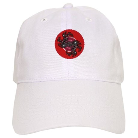 Fractal Kaleidoscope Red 2 Cap