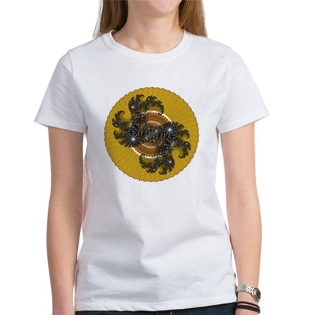 Fractal Kaleidoscope Gold Women's T-Shirt