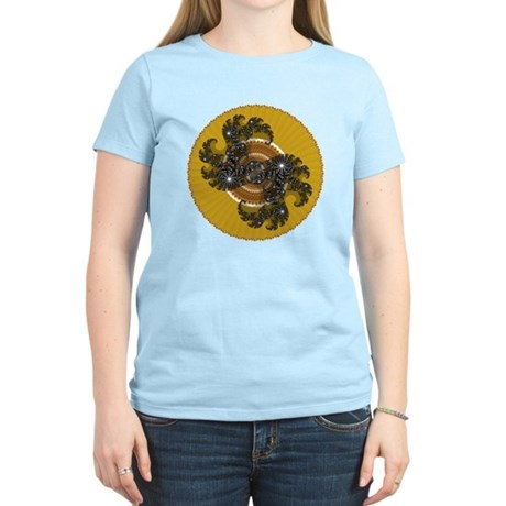 Fractal Kaleidoscope Gold Women's Light T-Shirt