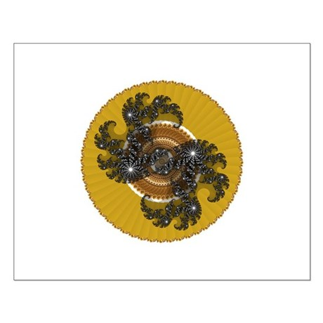 Fractal Kaleidoscope Gold Small Poster