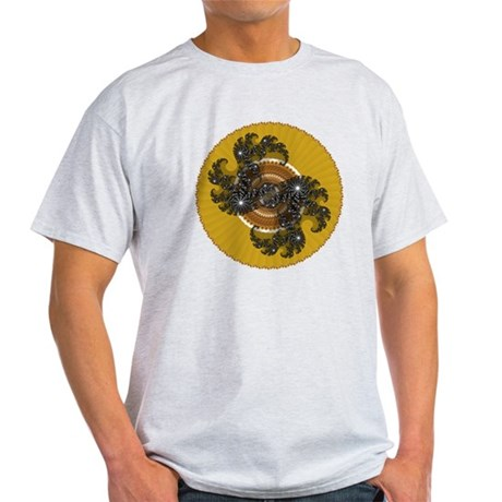Fractal Kaleidoscope Gold Light T-Shirt