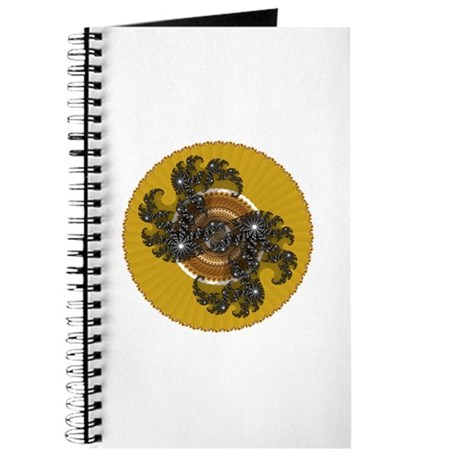 Fractal Kaleidoscope Gold Journal