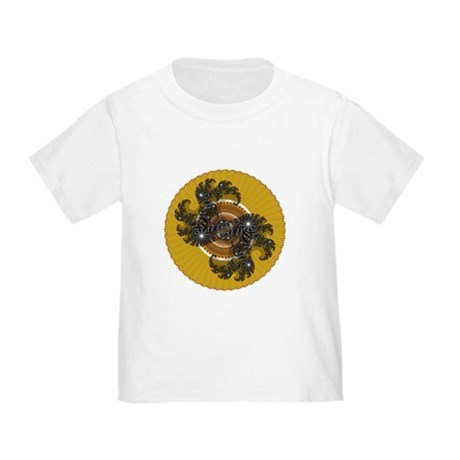 Fractal Kaleidoscope Gold Toddler T-Shirt