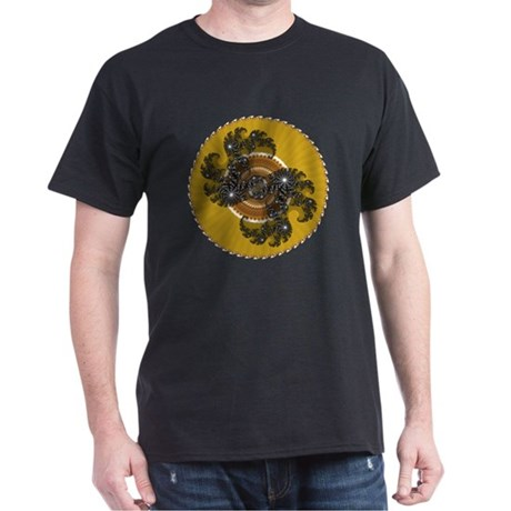 Fractal Kaleidoscope Gold Dark T-Shirt
