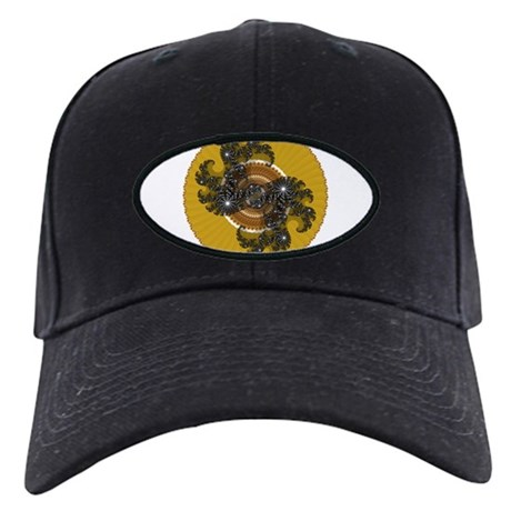 Fractal Kaleidoscope Gold Black Cap