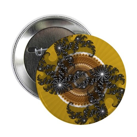 "Fractal Kaleidoscope Gold 2.25"" Button (10 pack)"