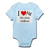 I Love My New Jersey Girlfriend Infant Bodysuit