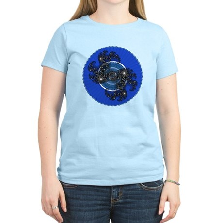 Fractal Kaleidoscope Blue Women's Light T-Shirt