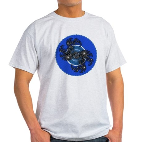Fractal Kaleidoscope Blue Light T-Shirt