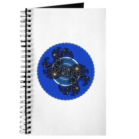 Fractal Kaleidoscope Blue Journal