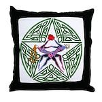Lover's Pentagram Throw Pillow