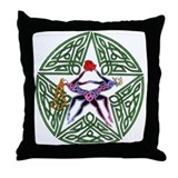 Lover's Pentagram Throw Pillow