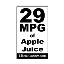 29 MPG of Apple Juice Rectangle Decal