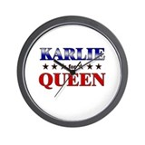 KARLIE for queen Wall Clock