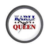 KARLI for queen Wall Clock