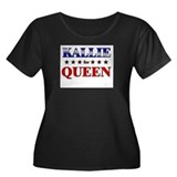 KALLIE for queen Women's Plus Size Scoop Neck Dark