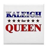 KALEIGH for queen Tile Coaster