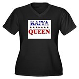 KAIYA for queen Women's Plus Size V-Neck Dark T-Sh