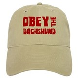 Obey the Dachshund Baseball Cap