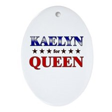 KAELYN for queen Oval Ornament