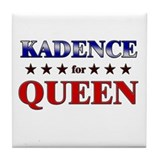 KADENCE for queen Tile Coaster
