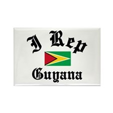 I rep Guyana Rectangle Magnet (100 pack)
