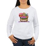 Wilbon's America (FRONT) Women's LS T-Shirt