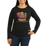 Wilbon's America (FRONT) Women's LS Dark T-Shirt