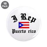 "I rep Puerto rico 3.5"" Button (10 pack)"