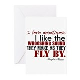 Douglas Adams Deadlines Quote Greeting Cards (Pk o