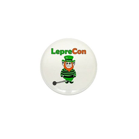 Funny Leprechaun Convict Mini Button (10 pack)