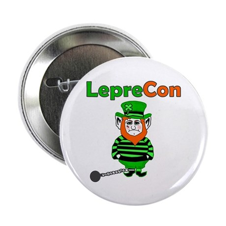 "Funny Leprechaun Convict 2.25"" Button (10 pack)"