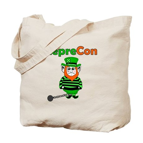 Funny Leprechaun Convict Tote Bag