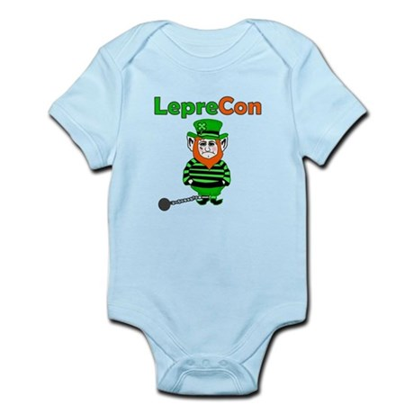 Funny Leprechaun Convict Infant Bodysuit